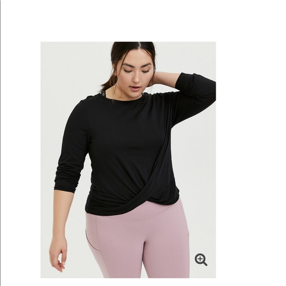 Torrid Twist Front Wicking Active Cropped T